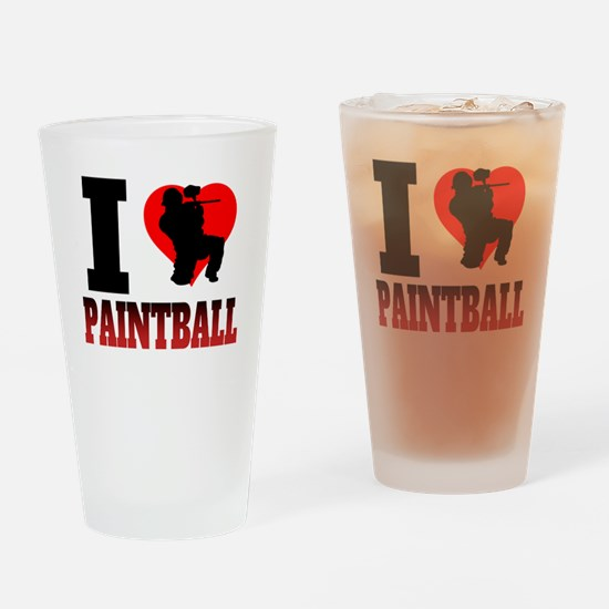 I Heart Paintball Drinking Glass