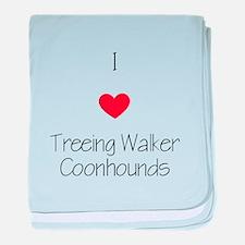 I love Treeing Walker Coonhounds baby blanket