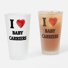 Cute Baby carrier Drinking Glass