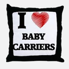 Cute Baby carrier Throw Pillow