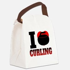 I Heart Curling Canvas Lunch Bag