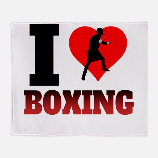 I Heart Boxing Throw Blanket