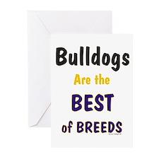 Bulldog Dog Best Of Breed Greeting Cards