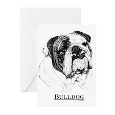 Bulldog Dog Breed Greeting Cards (Pk of 10)