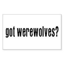 Got Werewolves? Rectangle Decal