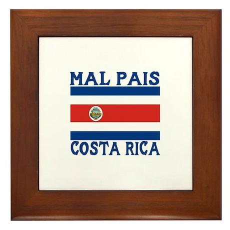 Mal Pais, Costa RIca Framed Tile