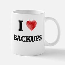 I Love BACKUPS Mugs