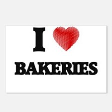 I Love BAKERIES Postcards (Package of 8)