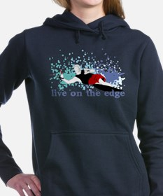 Cute Water skiing Women's Hooded Sweatshirt