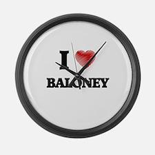 I Love BALONEY Large Wall Clock