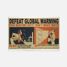 Defeat Global Warming (1) Rectangle Magnet