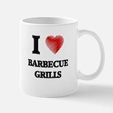 I Love BARBECUE GRILLS Mugs
