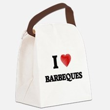 I Love BARBEQUES Canvas Lunch Bag