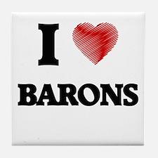 I Love BARONS Tile Coaster