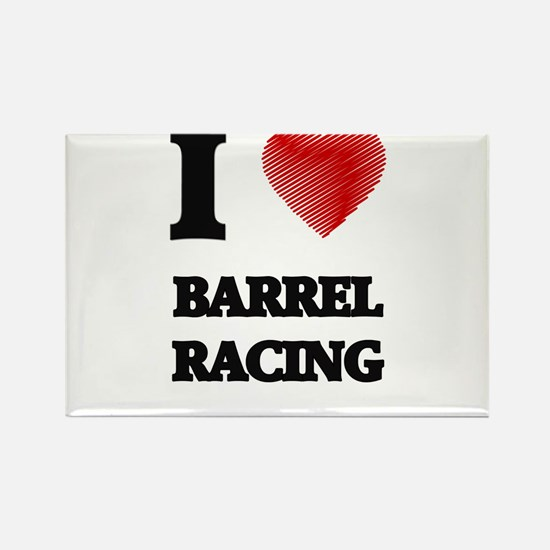 I Love BARREL RACING Magnets
