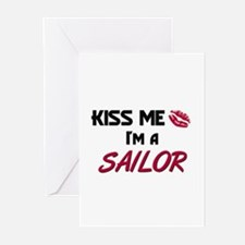 Kiss Me I'm a SAILOR Greeting Cards (Pk of 10)
