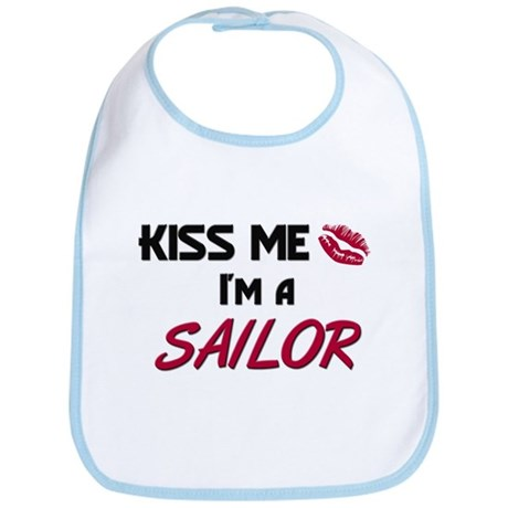 Kiss Me I'm a SAILOR Bib