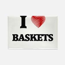 I Love BASKETS Magnets