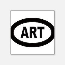 """Cute Artist Square Sticker 3"""" x 3"""""""