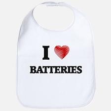 I Love BATTERIES Bib