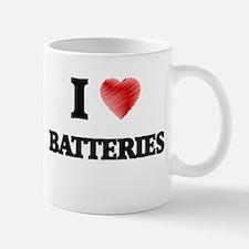I Love BATTERIES Mugs