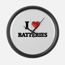 I Love BATTERIES Large Wall Clock