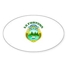 La Fortuna, Costa Rica Oval Decal