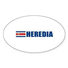 Heredia, Costa Rica Oval Decal