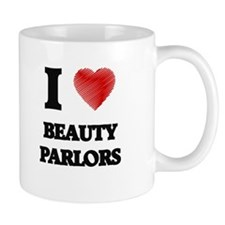 I Love BEAUTY PARLORS Mugs