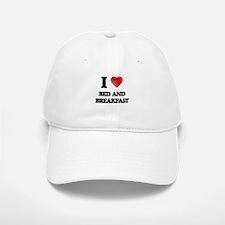 I Love BED AND BREAKFAST Baseball Baseball Cap