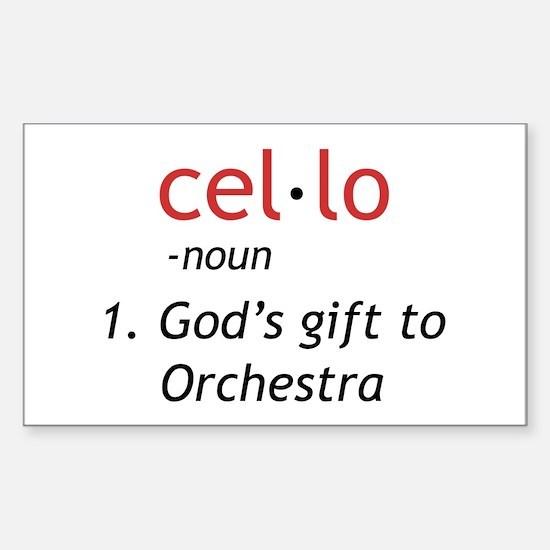 Cute Cellist Sticker (Rectangle)