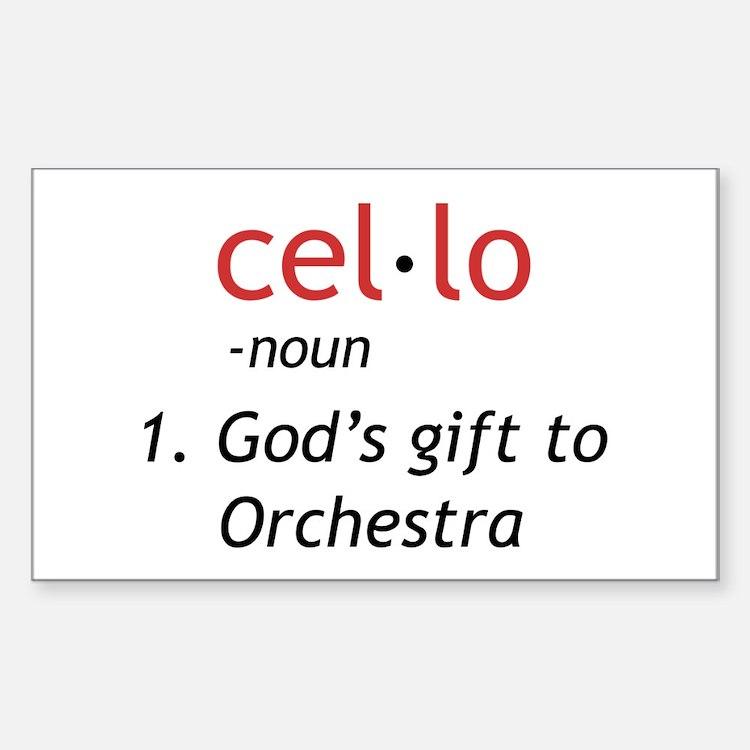 Cute Cellists Sticker (Rectangle)
