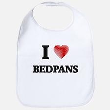 I Love BEDPANS Bib