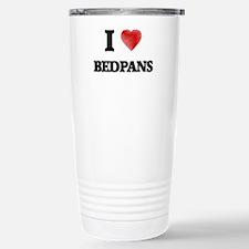 I Love BEDPANS Travel Mug