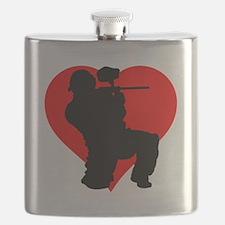 Paintball Heart Flask