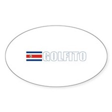 Golfito, Costa Rica Oval Decal