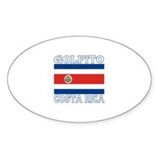 Golfito, Costa Rica Oval Decal
