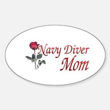 navy diver mom Oval Decal
