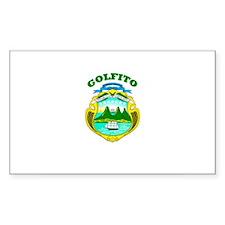 Golfito, Costa Rica Rectangle Decal