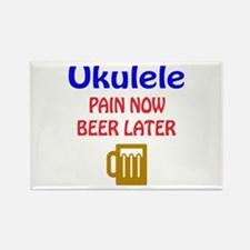 Ukulele Pain now Beer later Rectangle Magnet
