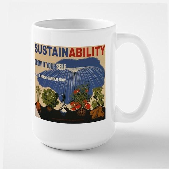 Sustainable Garden Farm Large Mug