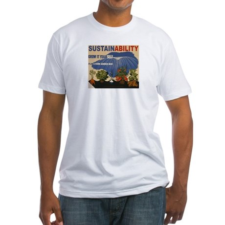 Sustainable Garden Farm Fitted T-Shirt