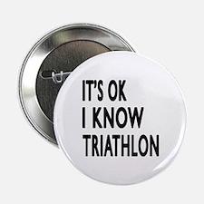 """I Know Triathlon 2.25"""" Button (10 pack)"""