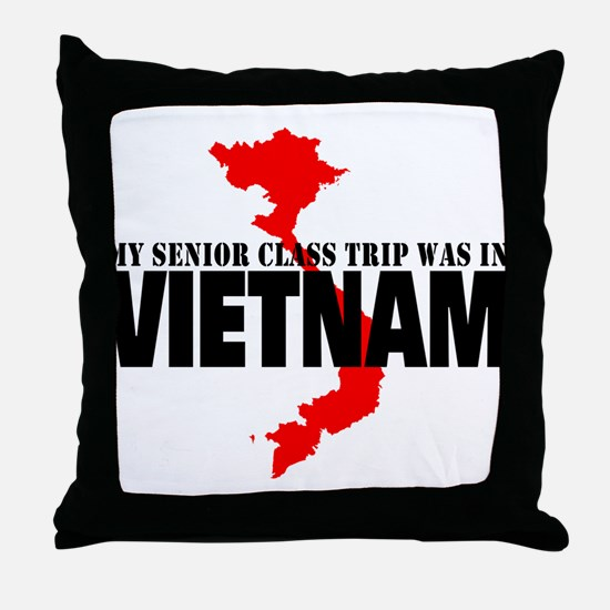 Vietnam senior class trip Throw Pillow