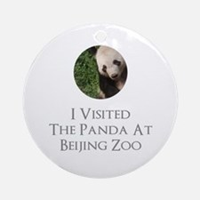 I Visited The Panda At Beijing Zoo Round Ornament