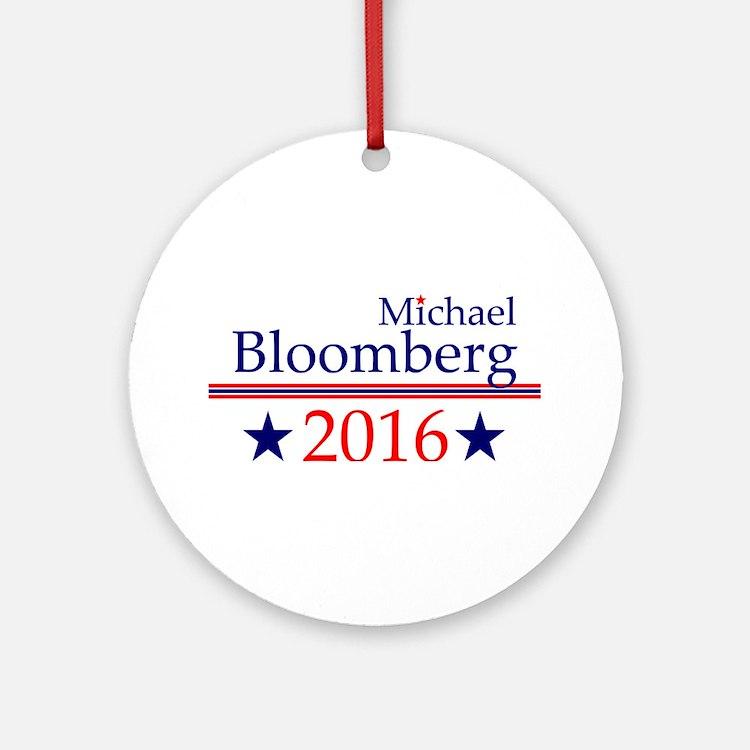 Michael Bloomberg Round Ornament