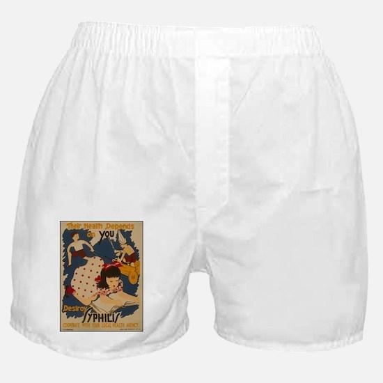 Vintage Syphilis Boxer Shorts