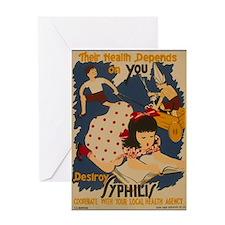 Vintage Syphilis Greeting Card