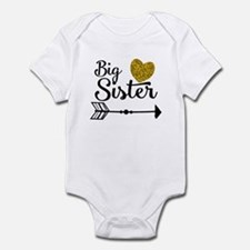 Big Sister Gold Heart Body Suit