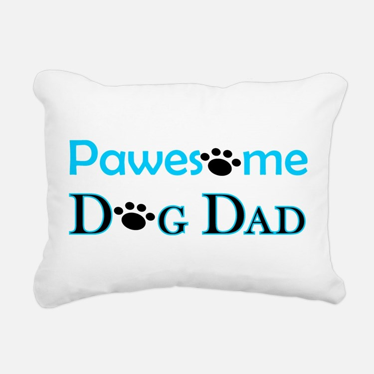 Pawesome Dog Dad Rectangular Canvas Pillow